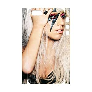 HQYDIY Customised Lady Gaga 3D Plastic Case, Personalised Lady Gaga Hard 3D Cell Phone Case for Iphone 5,5s