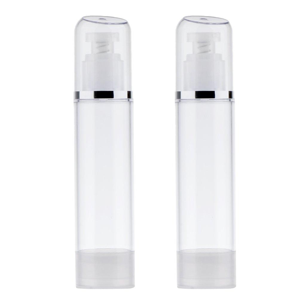 B Blesiya 2 pezzi di lozione vuota crema cosmetica bottiglie pompa airless dispenser 100ml