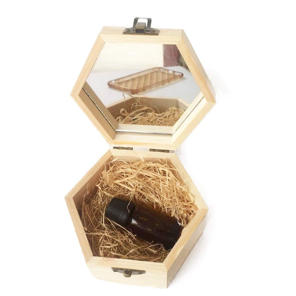 Zxcvlina-JJ Essential Oils Wooden Box Quality Storage Case for Aromatherapy Aromatherapy Products (Color : Natural, Size : 13X11.3X6.8CM) by Zxcvlina-JJ