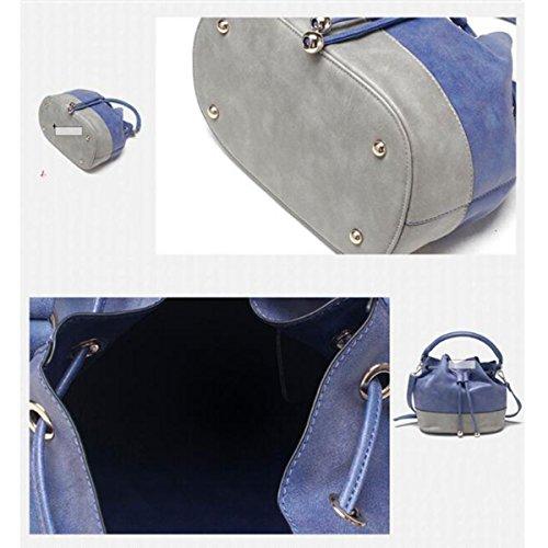 Della Delle Mini Dell'unità Di A Colore Elaborazione Borse Wu Zhi Spalla Borsa Cuoio Tracolla Colpo Del Blue wfRqWPI8UY