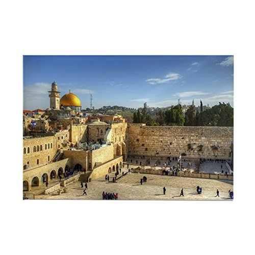 CafePress - Western Wall And Dome Of The Rock - Rectangle Magnet, 2