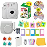 Photo : Fujifilm Instax Mini 9 Film Camera SMOKEY WHITE Instant Camera + 20 Instant Film Shots, Instax Case + 14 PC Instax Accessories Bundle, Fuji Instax Mini 9 Kit Gift Box, Albums, Lenses, Magnet Frames