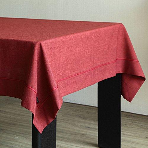 Rouge 140cm200cm FOOHAO Tissu de table Tissu Simple moderne imitation nappe de lin solide couleur nappes fraîches (Couleur   Rouge, taille   140cm200cm)