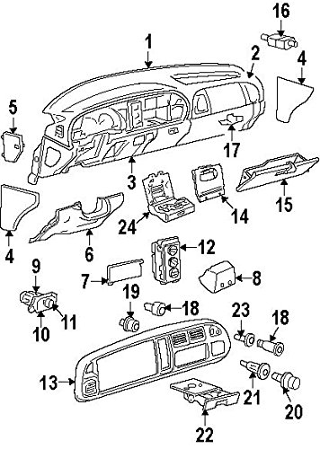 Amazon Com Mopar 56021675ae Headlight Switch Automotive