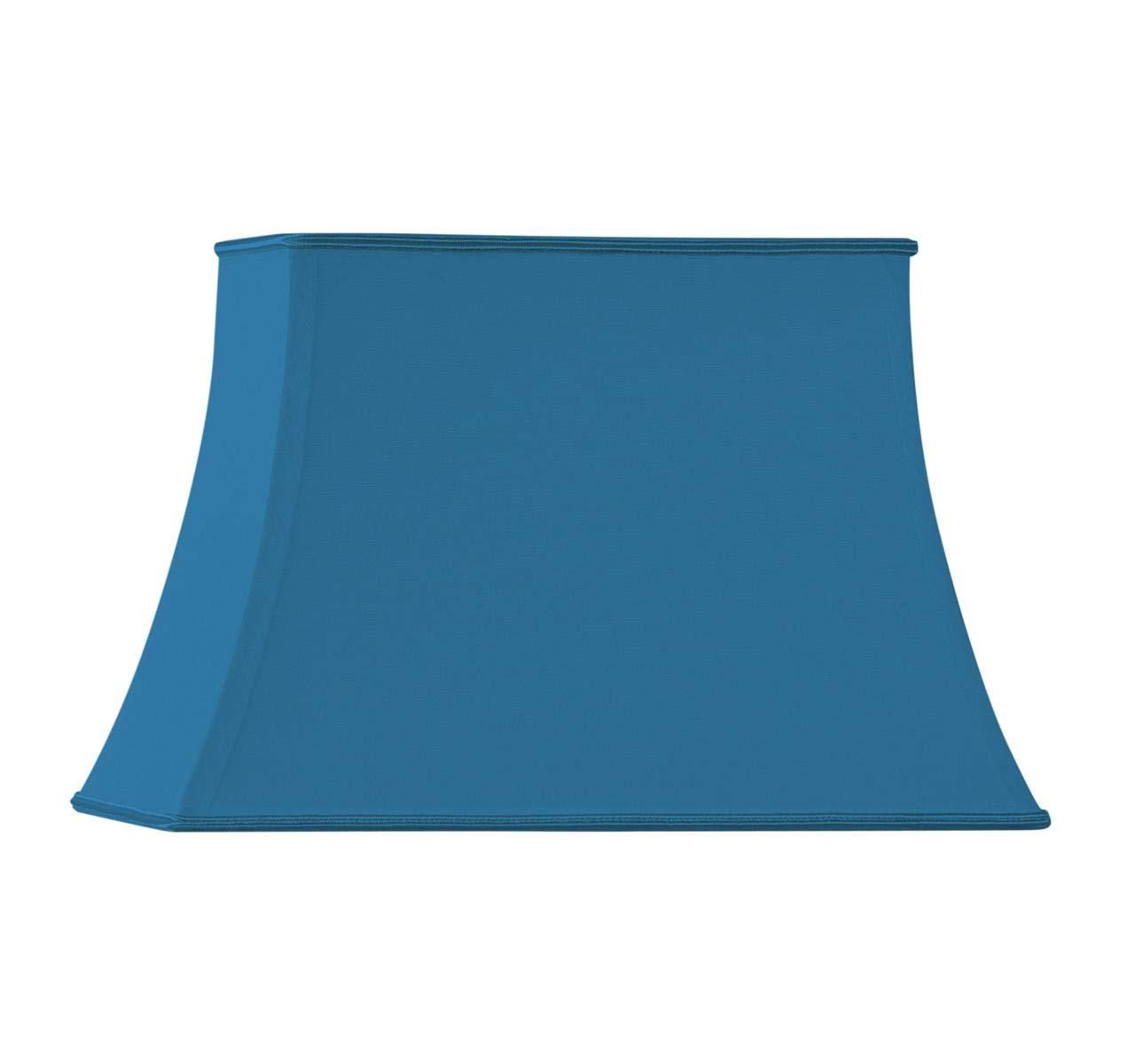 Hellblau 30 x 20 x 12//22 cm Lampenschirm in Form eines Pagode rechteckig