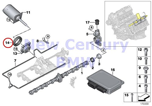 Bmw Piston Ring - 2 X BMW Genuine Piston With Rings And Wristpin Valve Train O-Ring 53.0X2.0MM X5 4.4i X5 4.8is 545i 550i 550i 645Ci 650i 650i 645Ci 650i 650i 745i 750i 760i ALPINA B7 745Li 750Li 760Li X5 4.8i Phantom