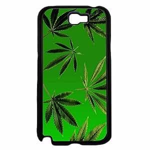 Green Weed Leaves- TPU RUBBER SILICONE Phone Case Back Samsung Galxy S4 I9500/I9502