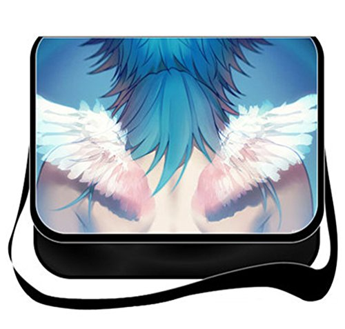 Bootores Cartoon DMMd - Dramatical Murder Pattern Pattern Canvas Messenger Bag Shoulder School Bags (Cartoon Pattern Canvas)