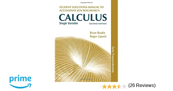 Single variable calculus early transcendentals students single variable calculus early transcendentals students solutions manual jon rogawski 9781429255004 amazon books fandeluxe Gallery