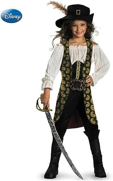 Angelica para niña de piratas del Caribe disfraz: Amazon.es ...