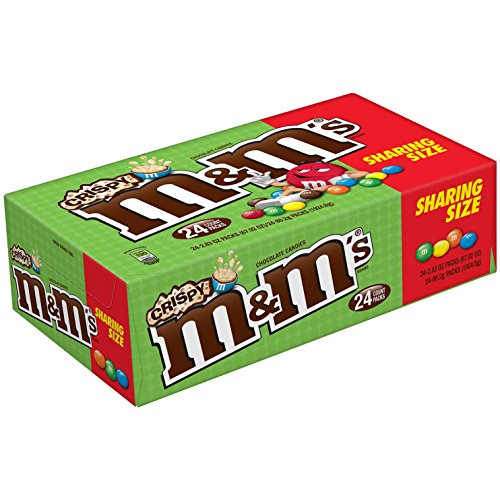 M&M'S Crispy Chocolate Candy Sharing Size 2.83-oz. Pouch, 24-Count Box ()