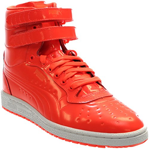 PUMA Men's Sky II Hi Patent Emboss Fashion Sneaker, Red Blast, 10 M - Leather Mid Footwear Red