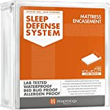 HOSPITOLOGY PRODUCTS Sleep Defense System - Zippered Mattress Encasement - Queen - Hypoallergenic - Waterproof - Bed Bug & Dust Mite Proof - Stretchable - Low Profile 9' Depth - 60' W x 80' L