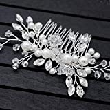 Bridal Hair Side Comb Silver For Women Wedding