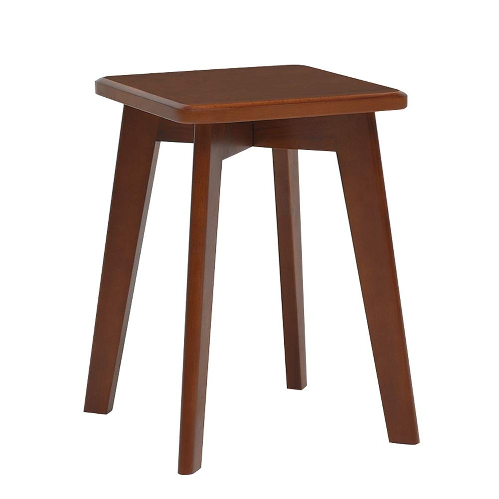Walnut color 303043cm ZHAOYONGLI Footstools,Otools Multifunction Wood 30cm Large Comfortable Seat Surface Dressing Stool Stool Restaurant Home Life (color   Wood color, Size   3030  43cm)