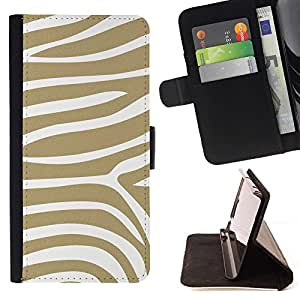 Momo Phone Case / Flip Funda de Cuero Case Cover - Motif Stripes animale - Samsung Galaxy S6 Active G890A