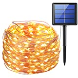 excellent patio and garden design ideas AMIR Solar Powered String Lights, 200 LED Copper Wire Lights, 72ft 8 Modes Starry Lights, Waterproof IP65 Fairy Christams Decorative Lights for Outdoor, Wedding, Homes, Party, Halloween (Warm White)