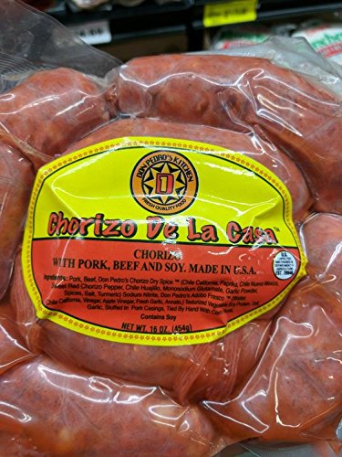 Don Pedro's Chorizo De La Casa 16 Oz (4 Pack) by Don Pedro's