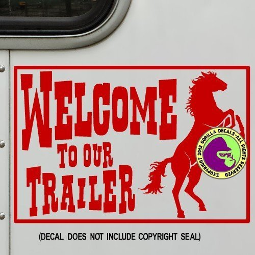 WELCOME TO OUR TRAILER LQ RV Vinyl Decal Sticker C