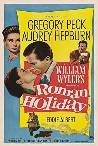 Amazon.com: Roman Holiday (1953) vintage movie poster 24x36inch 01: Posters  & Prints