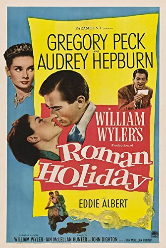 Roman Holiday (1953) vintage movie poster 24x36inch 01
