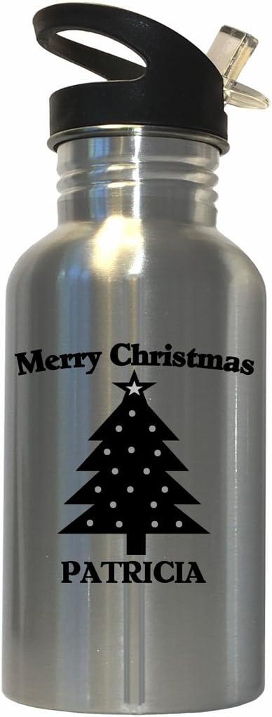 Merry Christmas Patricia Stainless Steel Water Bottle Straw Top 51UsooIU-aL