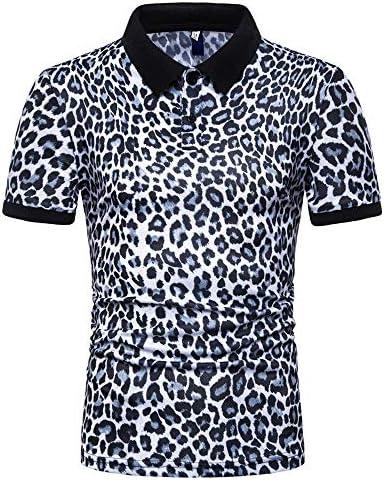 Aniywn Mens Floral Dress Shirts Long Sleeve Casual Leopard Print T-Shirts Summer Office Top Blouse Slim Fit White / Aniywn Mens Floral Dress Shirts Long Sleeve Casual Leopard Print T-Shirts Summer Office Top Blouse Slim Fit White
