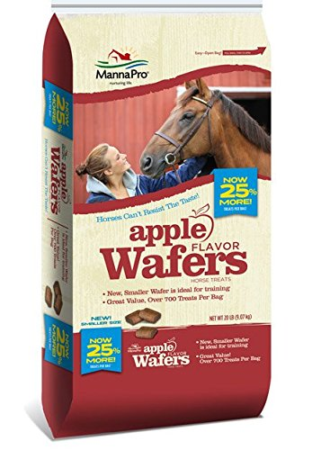 Cookie Horse Treats - Manna Pro Apple Wafers Horse Treats, 20 lb