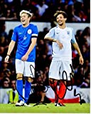 Niall Horan and Louis Tomlinson Signed - Autographed 1D One Direction Soccer 8x10 inch Photo - Guaranteed to pass PSA or JSA