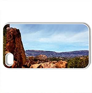 beautiful cactus in nature hdr - Case Cover for iPhone 4 and 4s (Deserts Series, Watercolor style, White)