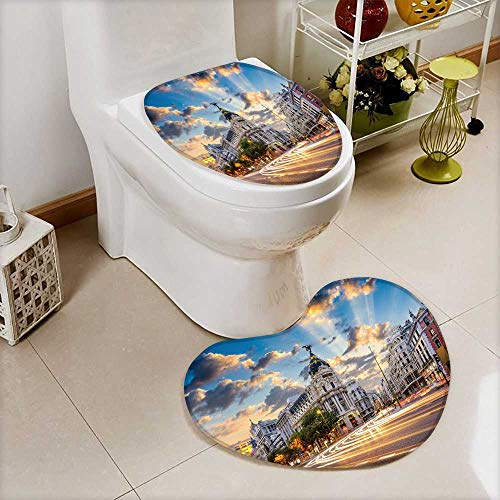 also easy Non-slip Bath Toilet Mat Madrid Spain on Gran Via Soft Non-Slip Water by also easy