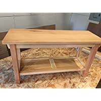 Hallway / Mud Room / Foyer Bench Special Order Unfinished 30 Increased Width 16