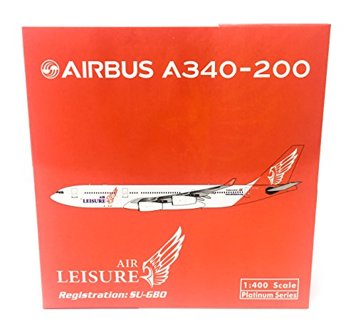 400 Egypt Air (Gemini Jets 1:400 Air Leisure Egypt Airbus A340-200 SU-GBO - PH2ALD1682 (pre-painted/pre-built))