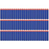 100 Pcs Blue Foam Darts for Nerf N-strike Elite Series Blasters Toy Gun Refill Pack