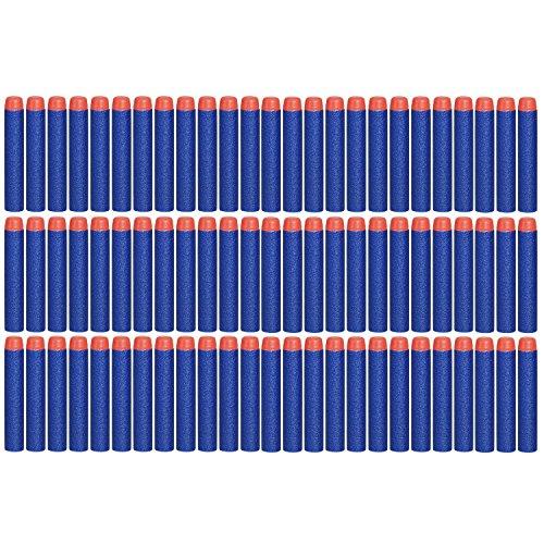100 Pcs Blue Foam Darts for Elite Series Blasters Toy Gun Refill Pack (Toy Foam Blasters & Guns)