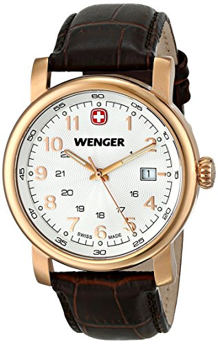 Wenger-Mens-011041109-Urban-Classic-3H-Analog-Display-Swiss-Quartz-Brown-Watch