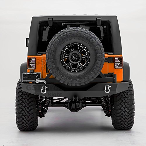 GSI Rock Crawler Full Width Rear Bumper with Tire Carrier, 2
