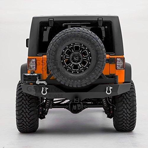 - GSI Rock Crawler Full Width Rear Bumper with Tire Carrier, 2