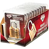 Diamond Plate™ 10 Piece Brass Combination Luggage Locks in Counter-top Display