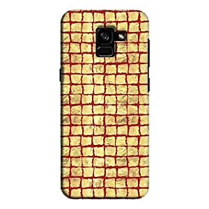 Cover It Up - Gold Red Break Mosaic Galaxy A7 2018 Hard Case