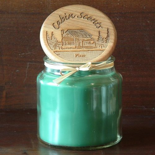 16oz Cabin Scents Pine Scented Jar Candle