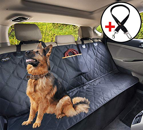 YoGi Prime Dog seat Covers for Back car seat for Large Dogs, Waterproof, protrct Your Vehicle only with The Best Durable Back seat Cover - Universal fit not-Hammock