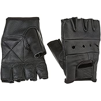 First Manufacturing Lightweight Fingerless Gloves (Black, Medium)