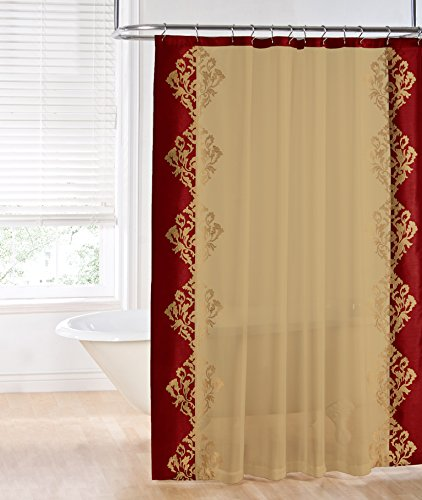 Regal Home Collections Danbury Embroidered Shower Curtain, B