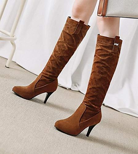 Long Affascinante Boot Marrone Stivali Misssasa Donna xFwCvqfw