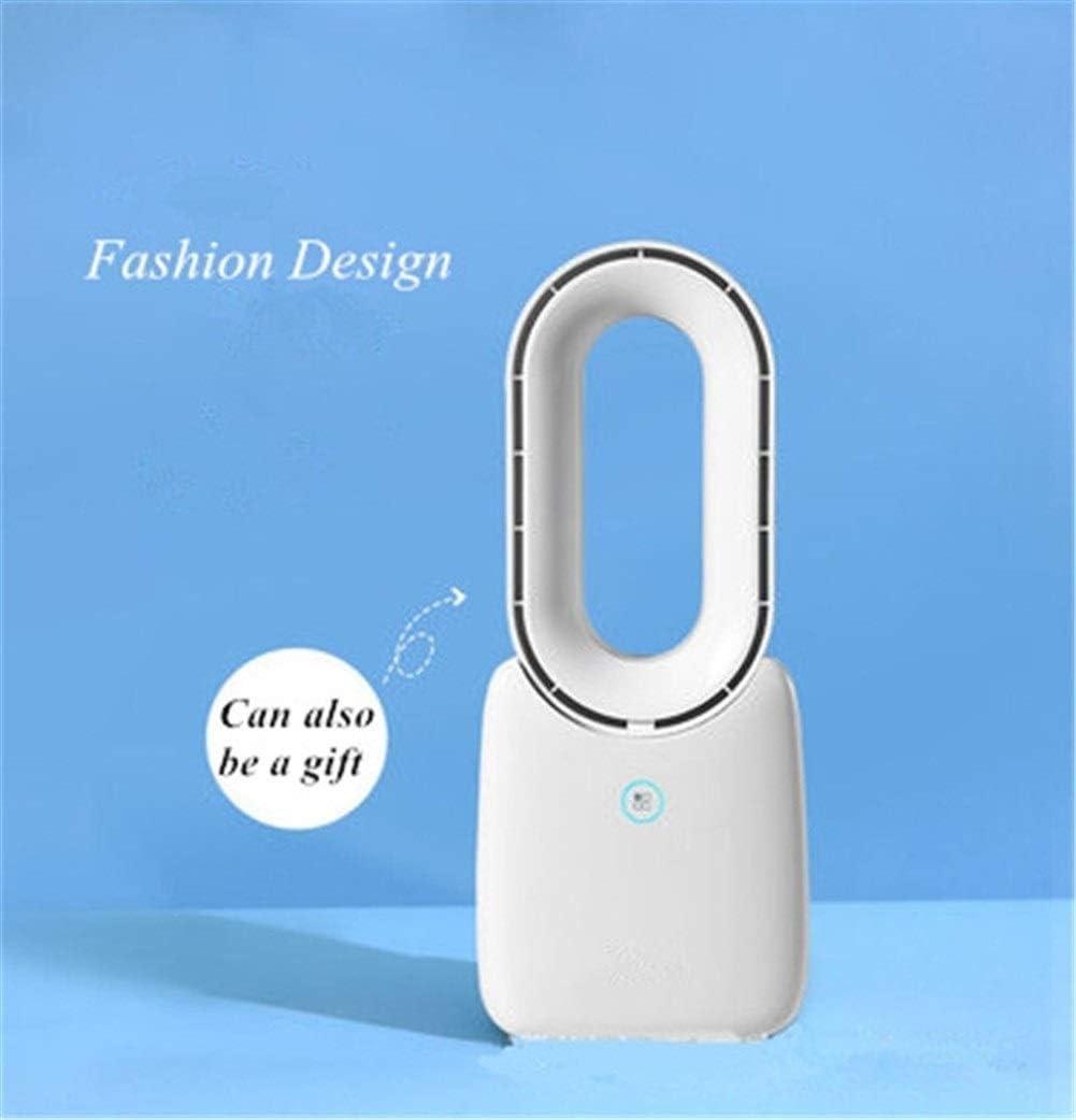 Color : Pink with no Light Fan Mini USB Portable Fan Rechargeable Bladeless Fan with Night Light Desk Fan Air Cooler Mini Portable Cooling Fan