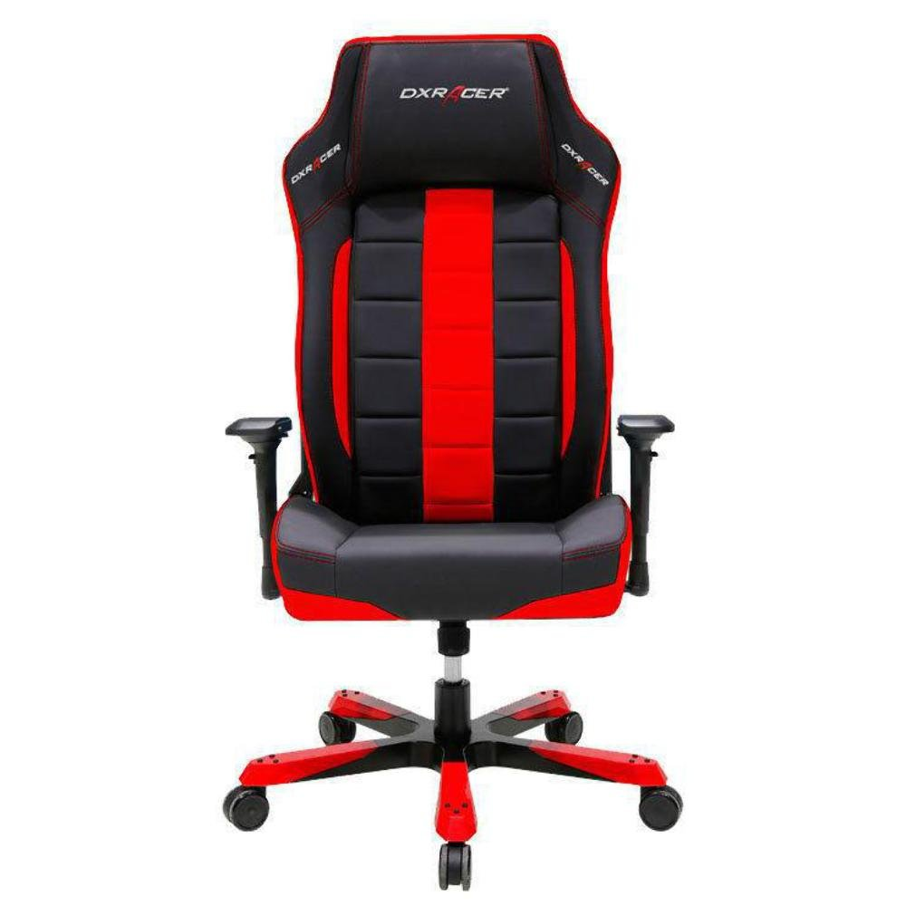 DXRacer OH/BF120/NR Black & Red Boss Series Gaming Chair Ergonomic High Backrest Office Computer Chair Esports Chair Swivel Tilt and Recline with Headrest and Lumbar Cushion + Warranty