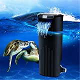 Low Water Fresh Internal Hang On Aquarium Fish Turtle Reptile Tank Power Filter