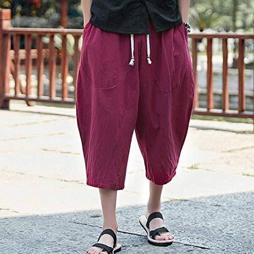 De Extensible Sarouel Baggy Homme Pour Saturn Homme Weinrot Décontracté Classique longue Sport Pantalon En Coupe Mi Lin dwqBp6dxR