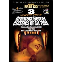 3 Vincent Price Greatest Horror Classics of All Time with Free Halloween CD